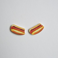 Hot Dog Stud Earrings Fun Novelty Gift