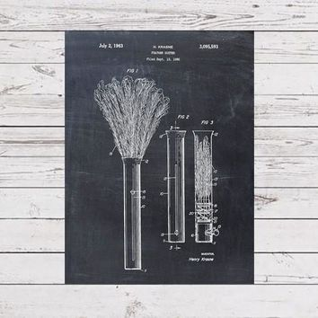 Feather Duster Patent Print - Patent Art Print - Patent Poster