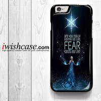 Disney Frozen Elsa Fear for iPhone 4 4S 5 5S 5C 6 6 Plus , iPod Touch 4 5  , Samsung Galaxy S3 S4 S5 S6 S6 Edge Note 3 Note 4 , and HTC One X M7 M8 Case
