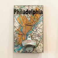 Philly Collection | Wall Mount Bottle Opener Philadelphia Map