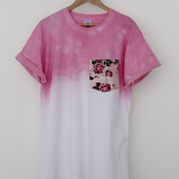 ANDCLOTHING — Pink Rose Dip Dye Tee COMING SOON