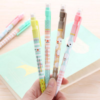 0.5mm Cute Kawaii Plastic Mechanical Pencil Lovely Moustache Automatic Pencils Korean Stationery Free Shipping 2112-1