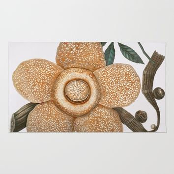 Rafflesia Arnoldii Rug by Wild Strawberries