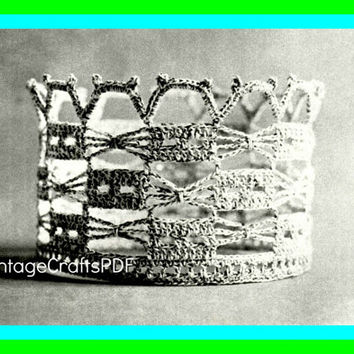 1970s Brides Trellis Crown-Vintage Crochet Pattern-Bridal Tiara-Brides Crown-Wedding Keepsake-Bridal Shower-Topper-Bride-Crochet Wedding