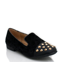 studded-loafers BLACK BURGUNDY NAVY PURPLE - GoJane.com