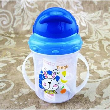 Durable Baby diaper Kids Straw Cup Drinking Bottle Sippy Cups