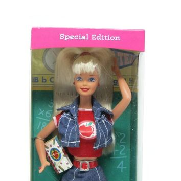 Vintage Mattel Barbe, Back to School Barbie Doll, Special Edition 1996 Production
