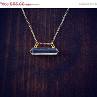 ON SALE SPIRIT Rider Crystal Quartz Gold Fill Necklace