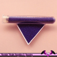 Micro Marbles DEEP DARK PURPLE  Half Ounce / 14 grams metallic caviar microbead miniature kawaii fake sprinkles