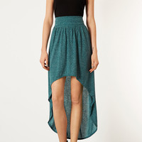 Green Speckle Dip Hem Maxi - Skirts - Clothing - Topshop