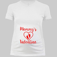 Valentines Pregnancy T Shirt Maternity Announcement Valentines Day Gift For Expecting Mom To Be V Day Maternity TShirt Ladies Tee - SA979