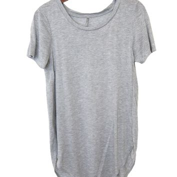 Seamed Tee Shirt, Heather Gray