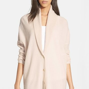 Women's Vince Directional Ribbed Cardigan,