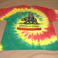 Cheech and Chong vintage style tie dye Shirt, never worn, new. unisex size XL ..all sales final