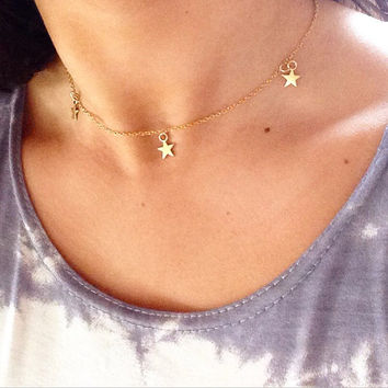 Bohemain Gold Star Choker