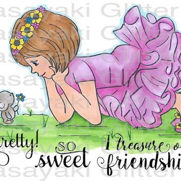 Cara and Mouse Friend Rubber Stamp Set [00-881P5]