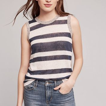 Rox Striped Linen Tank