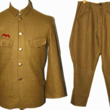 WWII WW2 JAPANESE OFFICER WOOL FIELD MILITARY UNIFORM SET TUNIC BREECHES IN SIZES