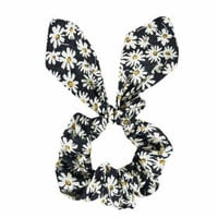 Mixed Daisy Scrunchie - Black