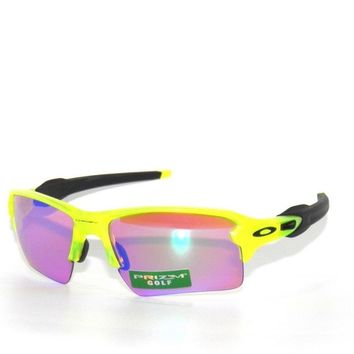 CLEARANCE~OAKLEY SUNGLASSES FLAK JACKET 2.0 XL 9188-11 URANIUM PRIZM GOLF