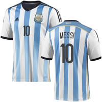 Messi #10 Argentina adidas 2014 World Soccer Replica Home Jersey - White