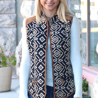 Tribe Vibes Puffer Vest {Navy Mix}