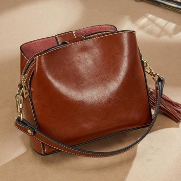 Leather Designer Handbag Shoulder Bag