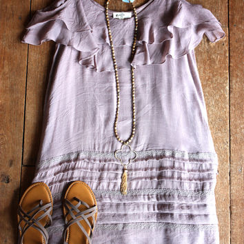 Blair Ruffle Dress, Mauve