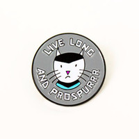 Live Long and Prospurrr Enamel Pin