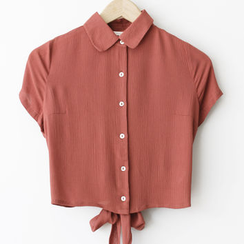 Abby Bow Button Up