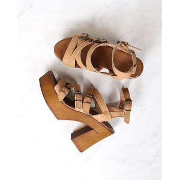 musse & cloud 'malena' sandal in cue/tan