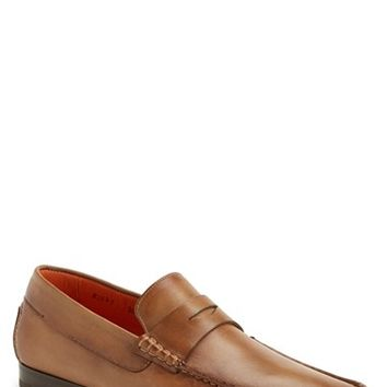 Men's Santoni 'Turner' Leather Penny Loafer