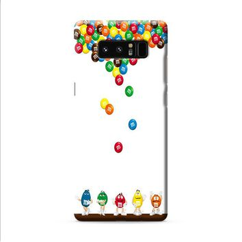 M&M's Candies Fall Samsung Galaxy Note 8 case