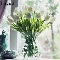 11 pcs/lot Real Touch Tulip Artificial Flower PU artificial bouquet flowers For Home Wedding decorative flowers & wreaths