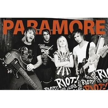 Paramore Poster Riot - Amazing Group Shot Rare HOT NEW