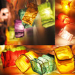 20 Multi Color Chinese Paper Lantern Fairy String Lights Party Wedding Patio