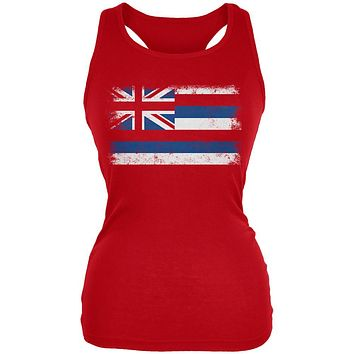Born and Raised Hawaii State Flag Juniors Soft Tank Top