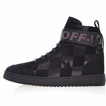 "virgil abloh x Off-white Arrows High Top Sneakers""Black garid""OMIA051F170341071010"