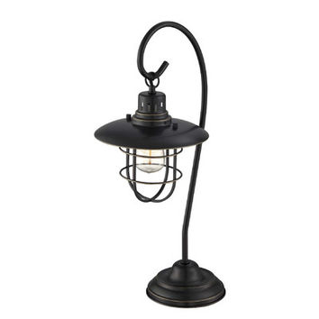 "Mercury Row Samantha 23"" H Table Lamp with Bell Shade"