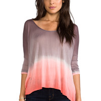 Young, Fabulous & Broke Bells Ombre Top in Coral