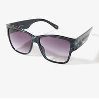 FOREVER 21 F9762 Ombre Sunglasses Blue/Black One