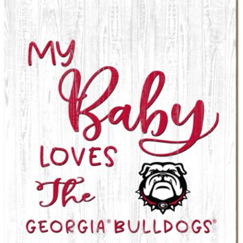 Georgia Bulldogs | My Baby Loves | Sign | Wood | Rope Hanger | NCAA