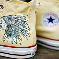 White Converse Chuck Taylor Hi Tops featuring by BStreetShoes