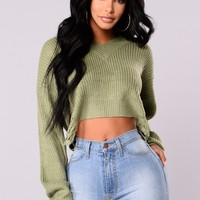 Ophelia Distressed Sweater - Kale