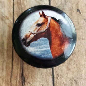 Handmade Horse Birch Knobs Drawer Pulls, Animal Cabinet Pull Handles, Dresser Knobs, Western Country Cabin Decor, Made To Order