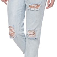 Almost Famous Karli Light Wash Destroyed Boyfriend Jeans