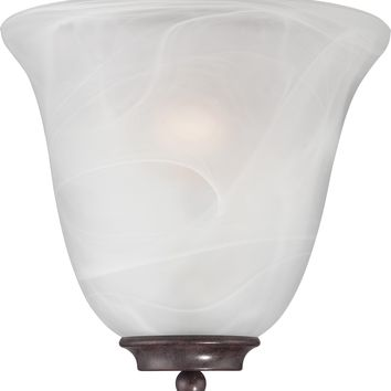 Wall Sconce in Old Bronze Finish with a Alabaster Glass Shade