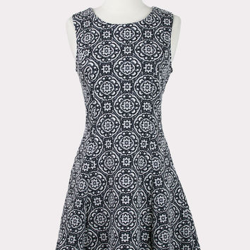 Jacquard Medallion Dress