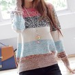STRIPED PULLOVER KNITTED (Photo Color)