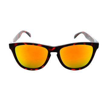 Retro Fashion Keyhole Mirror Lens Wayfarer Sunglasses Tortoise W1860
